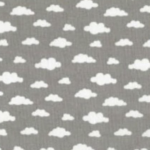 Nuages gris et blanc